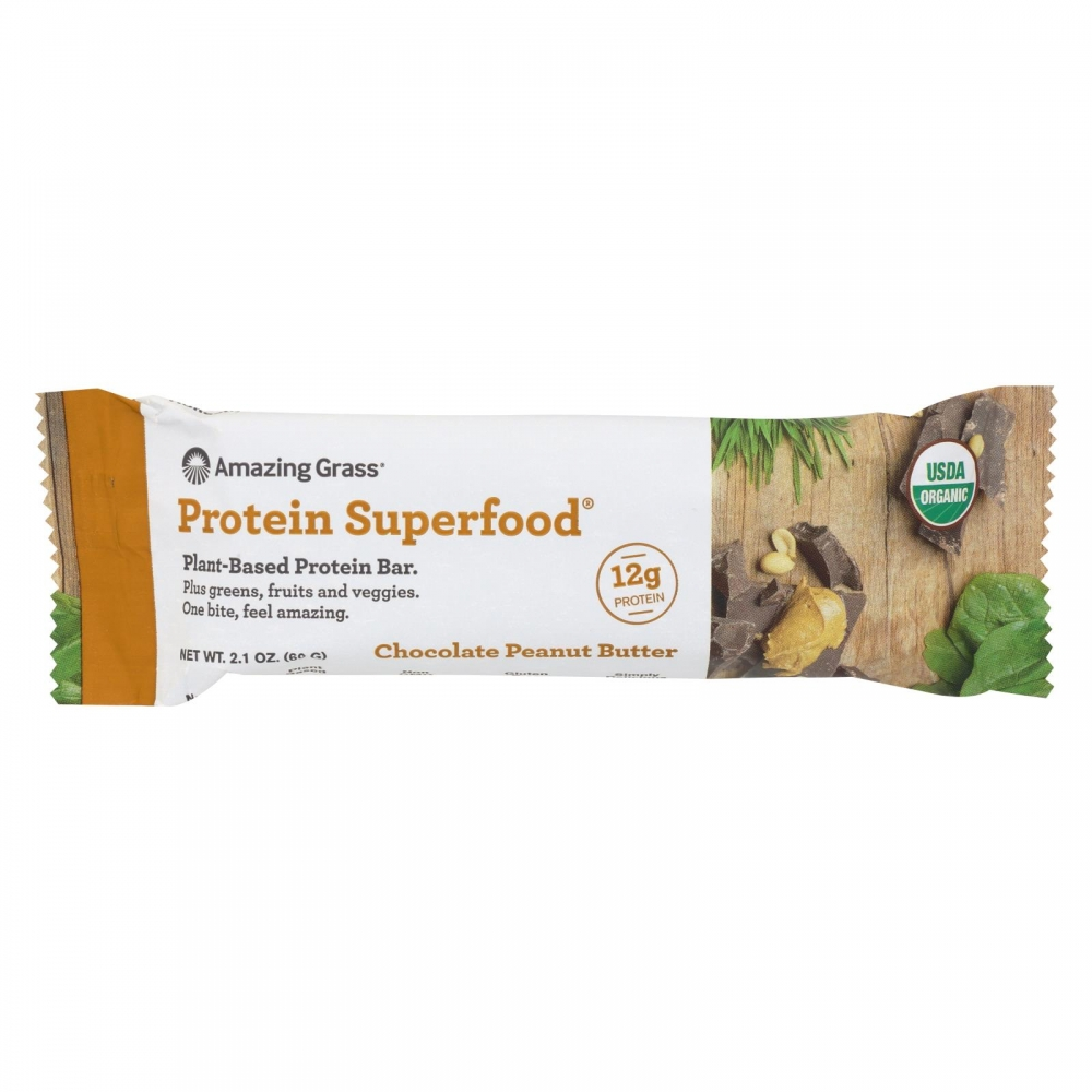 Amazing grass superfood protein bar chocolate peanut for Superfood bar